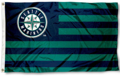 Seattle Mariners Stripes Sport Banner flag 3ftx5ft