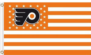Philadelphia Flyers flags 90x150cm with stripe and star