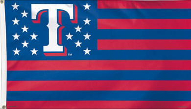 Texas Rangers Stars & Stripes Banner Flag 3x5ft