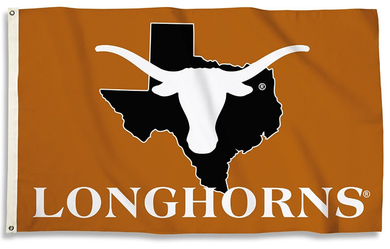 Texas Longhorns State Outline Banner Flag 3x5FT