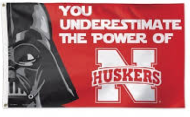 Nebraska Cornhuskers Star Wars Banner Flag 3ftx5ft