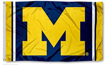 Load image into Gallery viewer, Michigan Wolverines Jersey Stripes Flag 90*150 CM