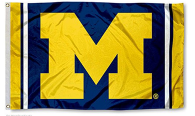 Michigan Wolverines Jersey Stripes Flag 90*150 CM