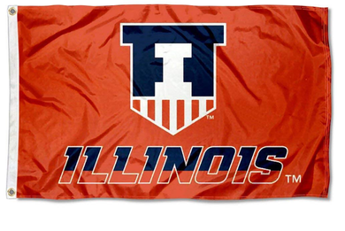 Illinois Fighting Illini Victory Badge Flags Banners 3*5ft