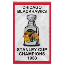 Load image into Gallery viewer, Chicago Blackhawks 1938 Stanley Cup Flag 3x5 ft 100D