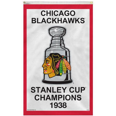 Chicago Blackhawks 1938 Stanley Cup Flag 3x5 ft 100D