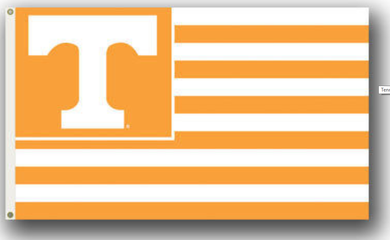 Tennessee Volunteers Striped Logo Banner Flag 3*5ft