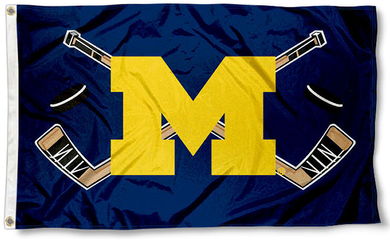 Michigan Wolverines Hockey Banner Flag 3x5ft