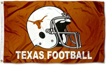Load image into Gallery viewer, Texas Longhorns Football Helmet Flag 3x5FT