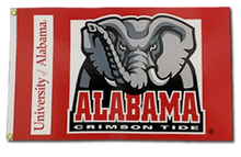 Load image into Gallery viewer, Alabama Crimson Tide Banner Flag 3x5ft
