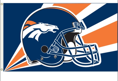 Denver Broncos Helmet Banner Flag 3x5ft