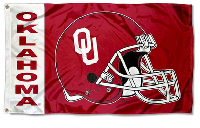 Oklahoma Sooners Football Helmet Banner Flags 3*5ft
