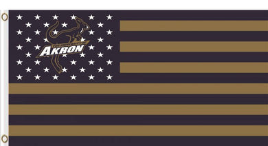 Akron Zips Star and Stripes Banner Flag 3ftx5ft