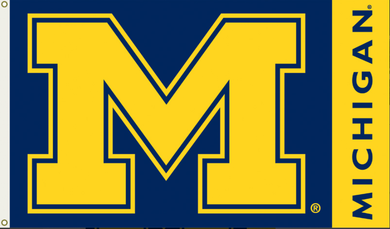 Michigan Wolverines College Banner Flag 3x5ft