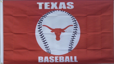Texas Longhorns Baseball Flag 3x5FT