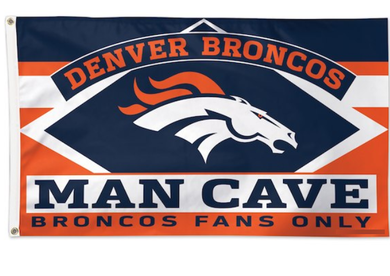 Denver Broncos Man Cave Banner Flag 3x5ft