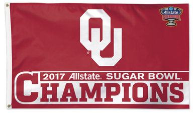 Oklahoma Sooners 2017 Sugar Bowl Champions Banner Flags 3*5ft