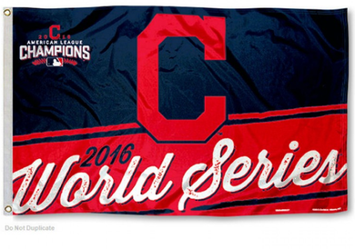 Cleveland Indians 2016 AL Champions and World Series Banner flags 3ftx5ft