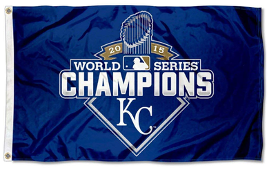 Kansas City Royals 2015 World Series flags 3ftx5ft