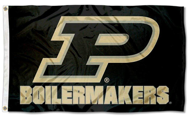 Purdue Boilermakers Boilers University Black Banner Flag 3*5ft