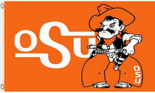 Load image into Gallery viewer, Oklahoma State Cowboys sports team flag