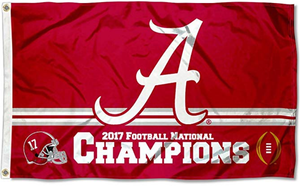 Alabama Crimson Tide 2017 CFP National Champions Flag 3X5FT