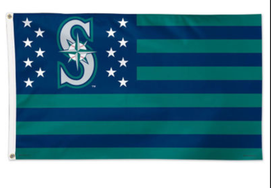 Seattle Mariners Stars & Stripes Banner flag 3ftx5ft