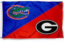 Load image into Gallery viewer, Florida Gators vs. Georgia Bulldogs House divided flag 3ftx5ft