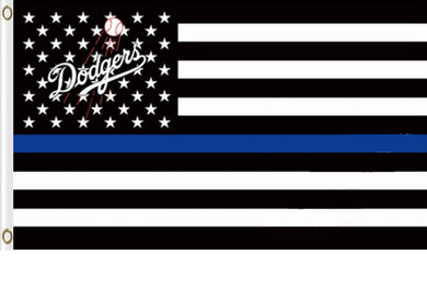 Los Angeles Dodgers Star and Stripes Black White Banner flag 3ftx5ft