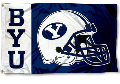 Brigham Young Cougars Helmet Banner Flag 3*5ft