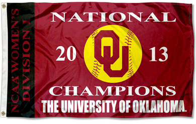 Oklahoma Sooners Softball 2013 Champs Banner Flags 3*5ft
