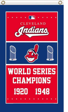 Cleveland Indians 1920 1948 Year Baseball Champions Banner flags 3ftx5ft