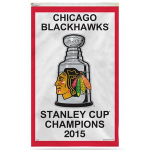 Chicago Blackhawks 2015 Stanley Cup Flag 3x5 ft 100D