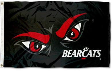University of Cincinnati Bearcats Black Banner Flag 3*5ft