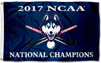 Connecticut Huskies 2017 Hockey National Champions Flag 3*5ft