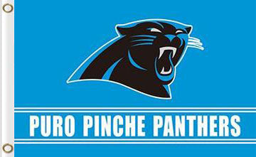 Carolina Panthers Puro Pinche Flag 3ftx5ft