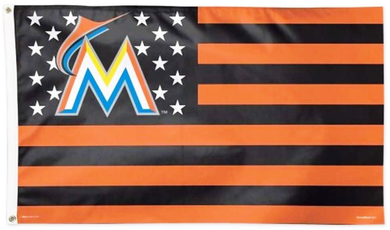 Miami Marlins Star and Stripes Banner flag 3ftx5ft