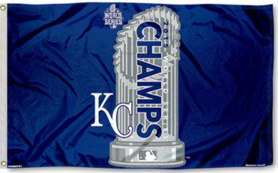 Kansas City Royals 2015 World Series Champs Banner flags 3ftx5ft
