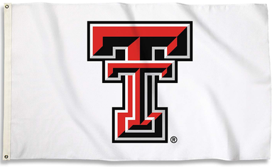 Texas Tech Red Raiders Sports White Banner Flag 3ft*5ft