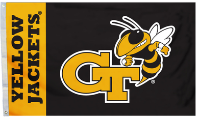 Georgia Tech Yellow Jackets  Black Banner Flags 3*5ft