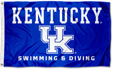 Kentucky Wildcats Swimming and Diving Banner Flag 3*5ft