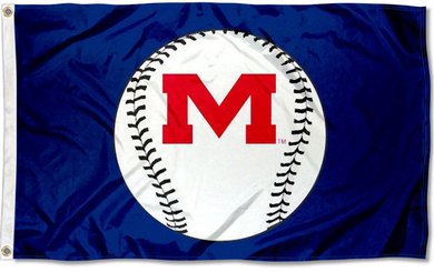 Mississippi Rebels Baseball Blue Flag 3x5ft