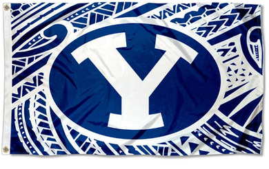 Brigham Young Cougars Samoan Pattern Banner Flag 3*5ft