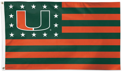 University of Miami Hurricanes Flag 3ft*5ft