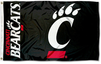 Cincinnati Bearcats Black Banner Flag 3*5ft