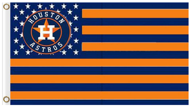 Houston Astros US Nation Banner flags 3ftx5ft