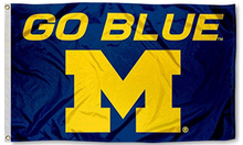 Load image into Gallery viewer, Michigan Wolverines Go Blue Flag 90*150 CM
