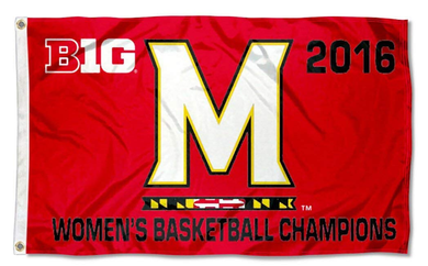 Maryland Terrapins Nation Big 10 Women's 2016 Champions Sports Flag 3*5ft