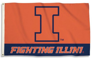 Illinois Fighting Illini Fighting Flags Banners 3*5ft