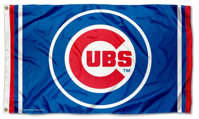 Champions Chicago Cubs Circle Logo Banner flag 3ftx5ft